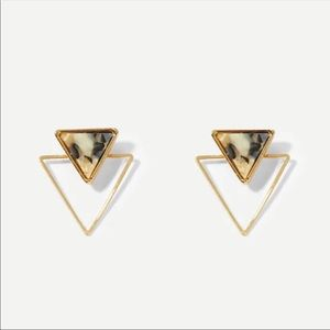 Geometric Double Triangle Earrings